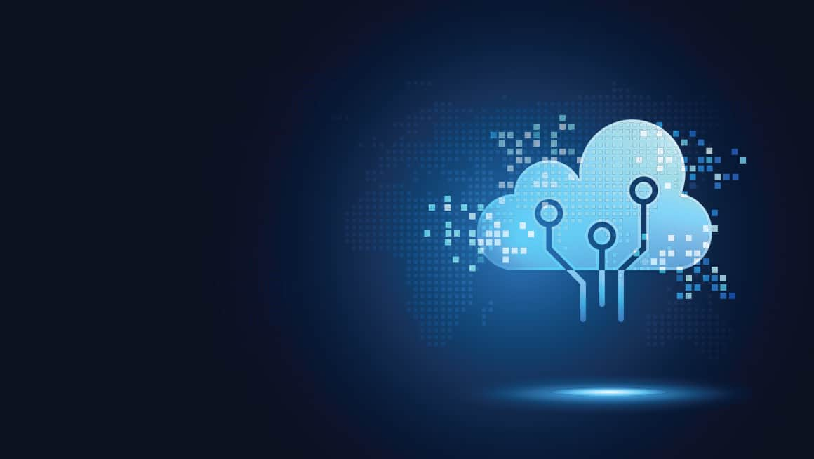 header graphic.  graphic illustration of a data cloud